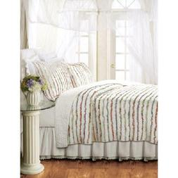 Georgina Ruffles Quilt Set, Floral by Global Trends, Multipl