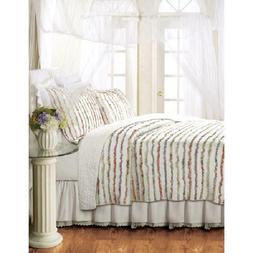 Georgina Ruffles Quilt Set, Floral by Global Trends, Multipl