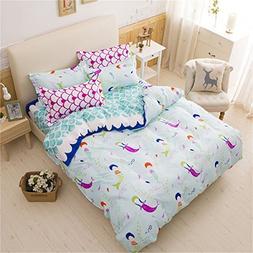 Lemontree Mermaid Bedding Set - Girls Soft Bedding Collectio