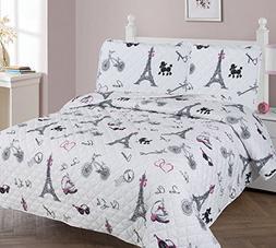 gorgeoushome paris eiffel tower bedding