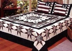 AHT Great America 3 Pc Full/Queen Quilt Bedspread Set