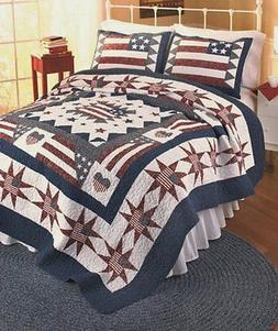 American Hometex Great America King Quilt Set