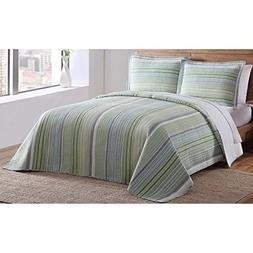 green point twin quilt set