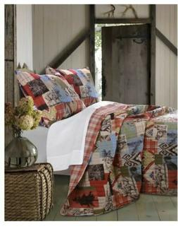 greenland home 2 piece rustic lodge quilt