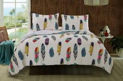Greenland Home 3 Piece Dream Catcher Quilt Set, Full/Queen