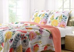 Greenland Home 3-Piece Watercolor Dream Quilt Set, King, Mul