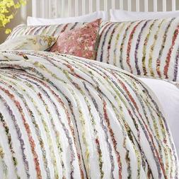Greenland Home Bella Ruffle King Quilt Set ONLY! Cotton