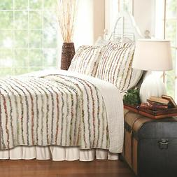 Greenland Home Bella Ruffle Quilt & Sham Set Twin Full/Queen