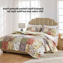 Greenland Home Blooming Prairie 100% Cotton Authentic Patchw