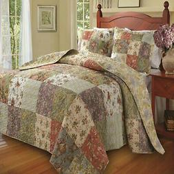 Greenland Home Blooming Prairie Bedspread Set Twin Full Quee