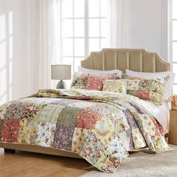Greenland Home Blooming Prairie Cotton Patchwork Quilt Set,