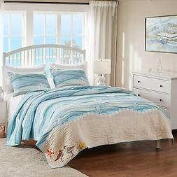 greenland home maui quilt set 3 piece