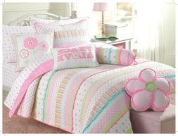 Greta Pastel Floral 100%Cotton Reversible Quilt Set, Bedspre