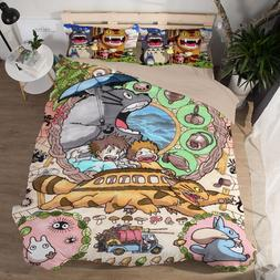 Grey Totoro 3 <font><b>Pieces</b></font> Bedding <font><b>Se