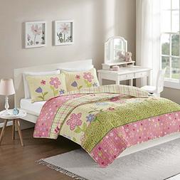 Comfort Spaces - Happy Flower Mini Quilt Set - 2 Piece - Pin