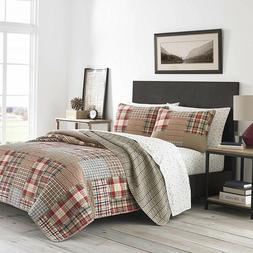Eddie Bauer Hawthorne Bedding, Full/Queen, Brown