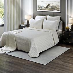 Brielle Premium Heavy Velvet Quilt Set with Cotton Backing,