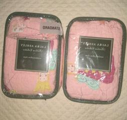 "LAURA ASHLEY Heirloom Collection Pillow Shams 20""x 26""  Set"