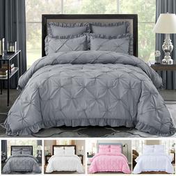 HIG 5 Piece Comforter Set Pinch Pleat Scallop Fringe HANIA B