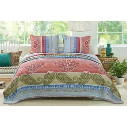 Barefoot Bungalow Hillsborough Quilt and Sham Set