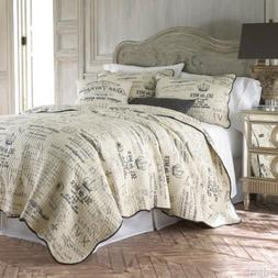 Histoire Paris FRENCH Country SCRIPT Cream Charcoal Grey KIN