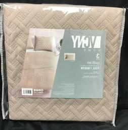 VCNY Home 3 Piece 100% Polyester Quilt Set Full Queen with S
