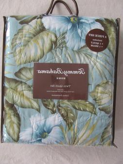 Tommy Bahama Home-Alba Botanical-Floral /Foliage-2 Piece Twi