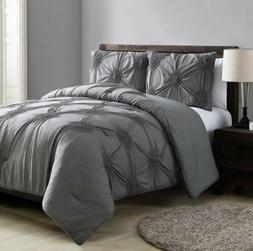VCNY Home Jenelle Comforter Set, King, Grey