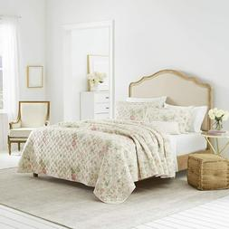 Laura Ashley Home Luxury Ultra Soft Quilt 3 Piece Bedding Se