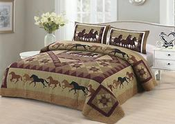 horse country king quilt set
