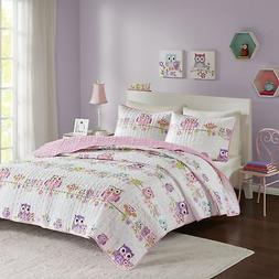 Comfort Spaces - Howdy Hoots Kids Bedspread Mini Quilt Set -