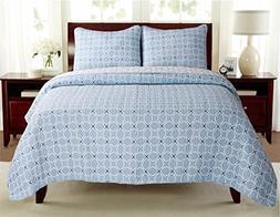 100% Hypoallergenic Cotton 3 piece Circle Quilt Set Bedroom