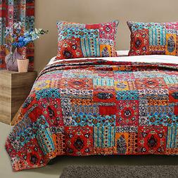 Barefoot Bungalow Indie Soft Reversible Quilt & Pillow Sham