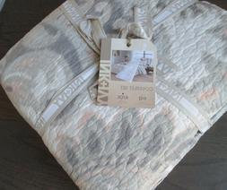 INK + IVY Mira Coral Blush Taupe Grey Paisley Cotton KING Qu