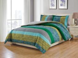 Chezmoi Collection Ivan 6-Piece Paisley Retro Comforter Set