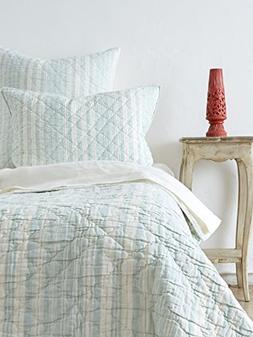 Amity Home Jacob Stripe Quilt Set, Queen, Sea Glass
