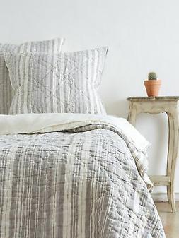 Amity Home Jacob Stripe Quilt Set, King, Sea Glass New