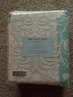 Patchwork Jacquard Bedspread 3 Pc Set 100% Cotton FULL Size