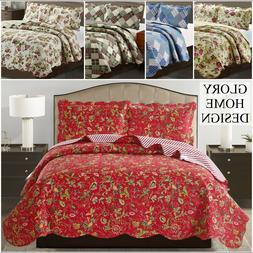 Jennifer - 3 Piece Reversible Quilt Set and shams
