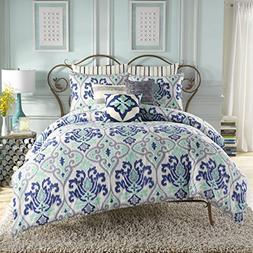 Anthology Joli Twin XL Comforter Set-Mint/Blue