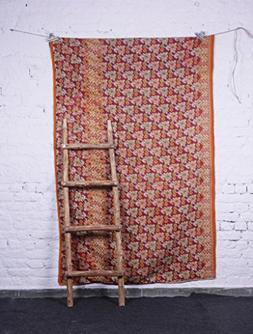 Kantha Patchwork Quilts Silk Comforters Twin Multi Color Vin
