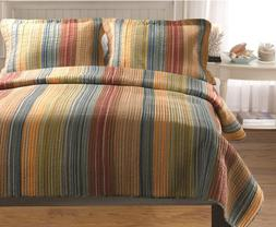 Greenland Home Katy Quilt Set, Full/Queen, Multi