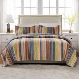 Greenland Home Katy Quilt Set, King, Natural
