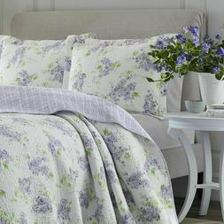 keighley lavender lilac floral reversible cotton twin