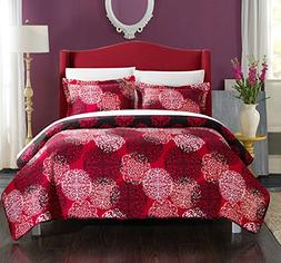 Chic Home 3 Piece Kelsie Boho Inspired Reversible Print Quil