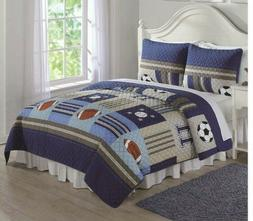 Laura Hart Kids Collection Full Queen F/Q Quilt Set Sports 3