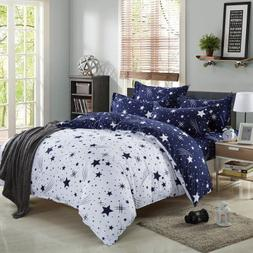 Kids Cotton Blend Star Twin Size Bedding Sheets Set Bed Pill