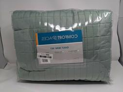 Comfort Spaces - Kienna Quilt Mini Set - 3 Piece - Seafoam -