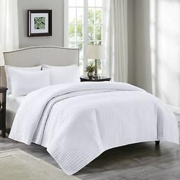 Comfort Spaces - Kienna Quilt Mini Set - 3 Piece - White - S