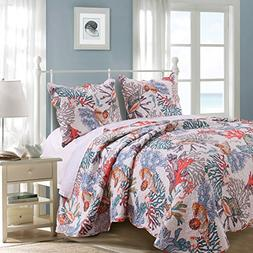 Barefoot Bungalow 3 Piece Full/Queen Atlantis Quilt Set